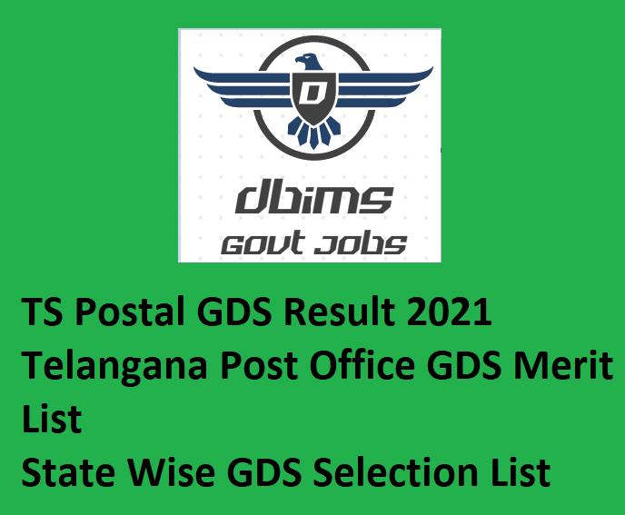 TS Postal GDS Result