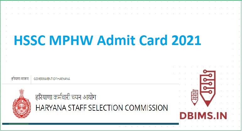 HSSC MPHW Admit Card 2021
