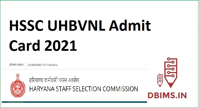 HSSC UHBVNL Admit Card 2021