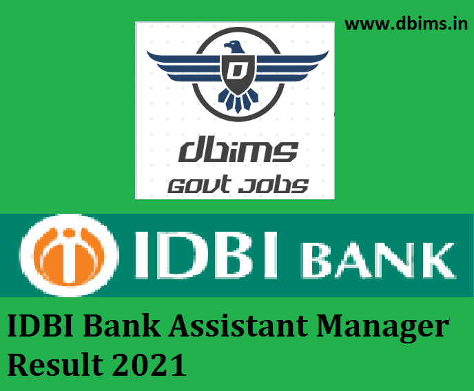 IDBI Bank Assistant Manager Result 2021