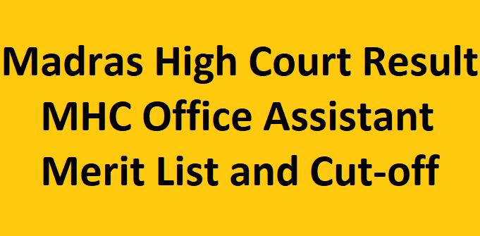 Madras High Court Result