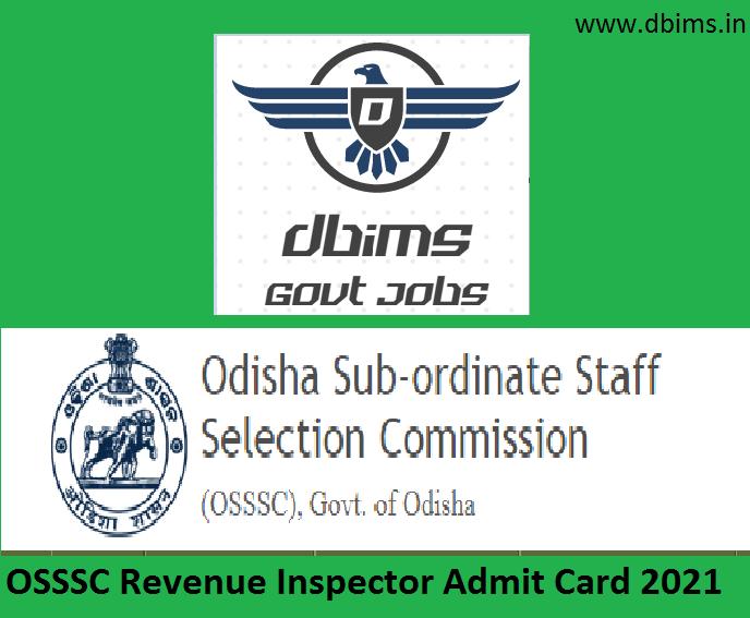 OSSSC Revenue Inspector Admit Card 2021