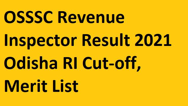 OSSSC Revenue Inspector Result