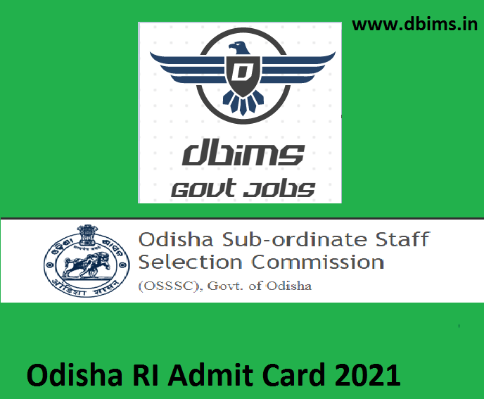 Odisha RI Admit Card 2021