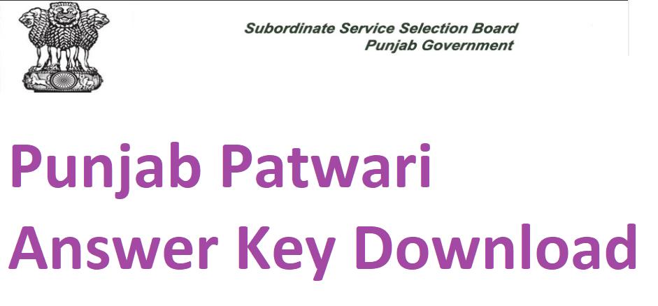 Punjab Patwari Answer Key