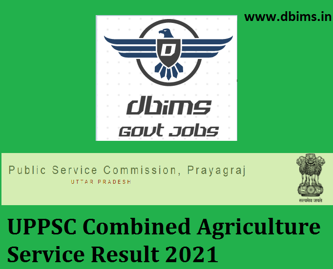 UPPSC Combined Agriculture Service Result 2021