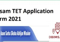 Assam TET Application Form 2021