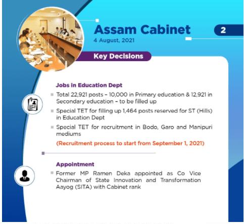 Assam Teacher Recruitment