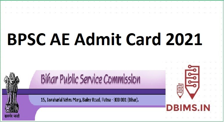BPSC AE Admit Card 2021