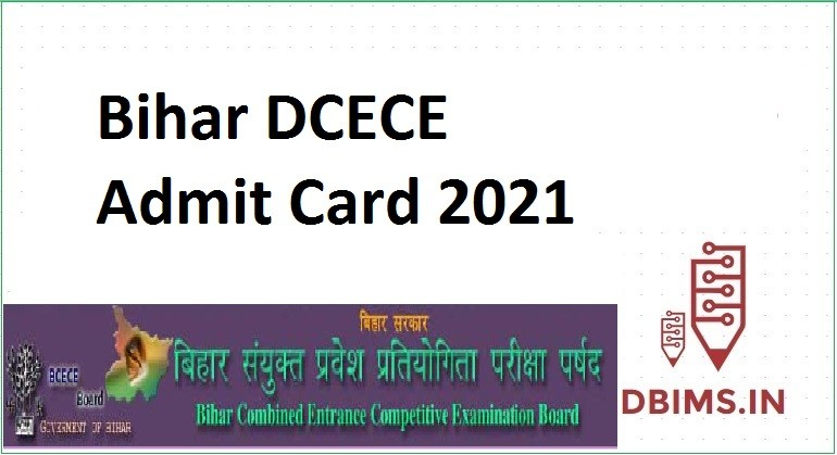 Bihar DCECE Admit Card 2021