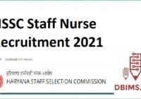 HSSC Staff Nurse Recruitment 2021