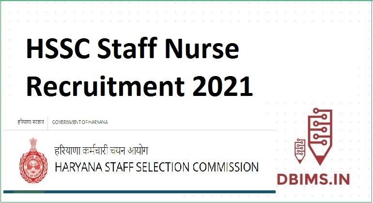 HSSC Staff Nurse Vacancy 2021