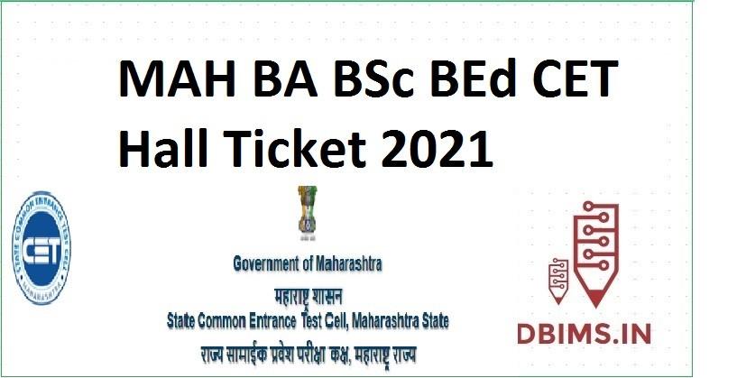 MAH BA BSc BEd CET Hall Ticket 2021