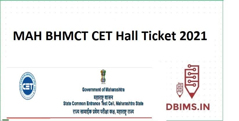 MAH BHMCT CET Hall Ticket 2021