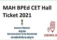 MAH BPEd CET Hall Ticket 2021