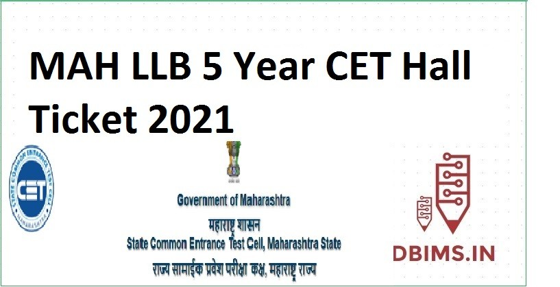 MAH LLB 5 Year CET Hall Ticket 2021