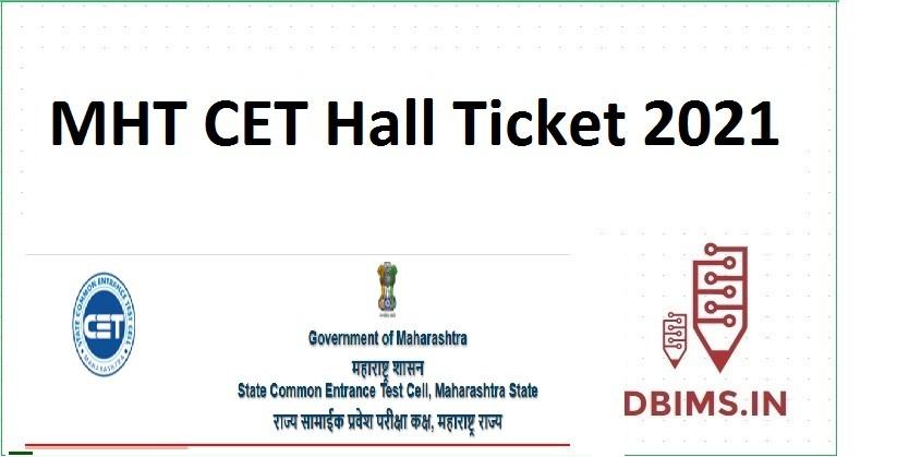 MHT CET Hall Ticket 2021