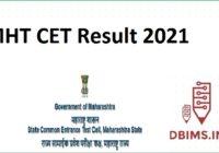 MHT CET Result 2021