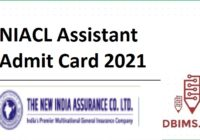 NIACL Assistant Admit Card 2021