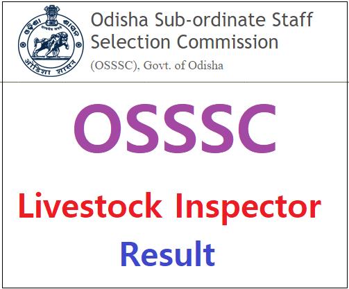 OSSSC Livestock Inspector Result