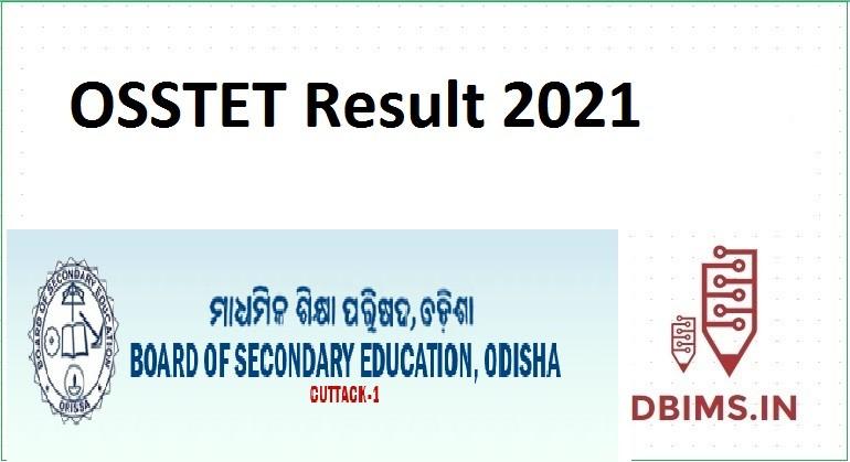 OSSTET Result 2021