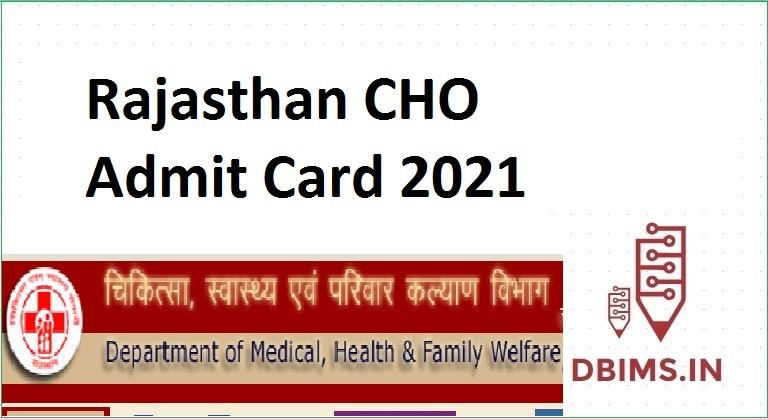 Rajasthan CHO Admit Card 2021