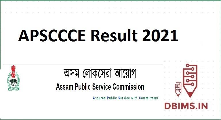 APSC CCE Result 2021