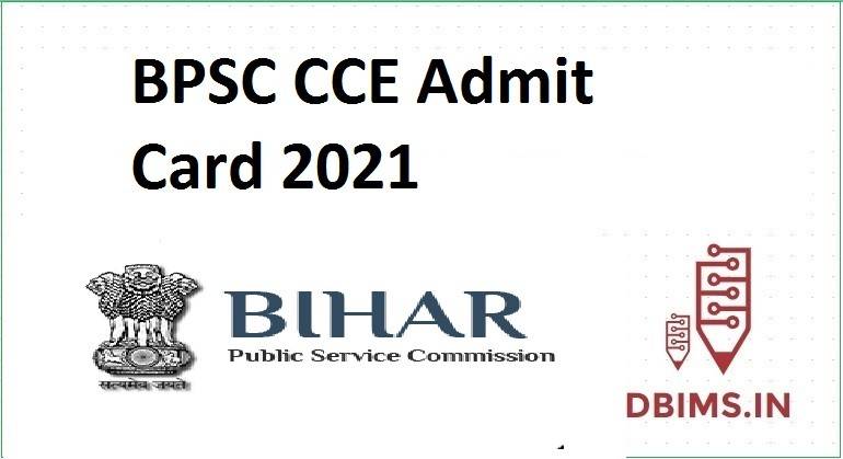 BPSC CCE Admit Card 2021