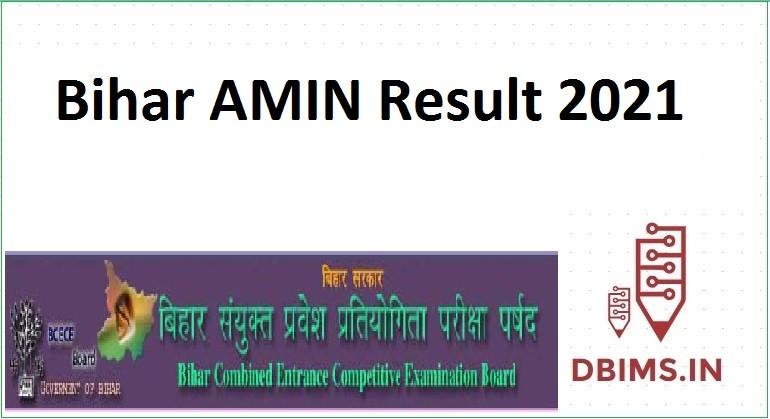 Bihar AMIN Result 2021