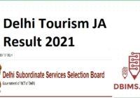 Delhi Tourism JA Result 2021