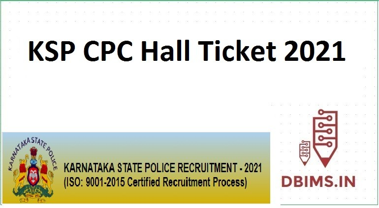 KSP CPC Hall Ticket 2021