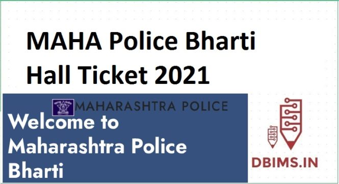 MAHA Police Bharti Hall Ticket 2021