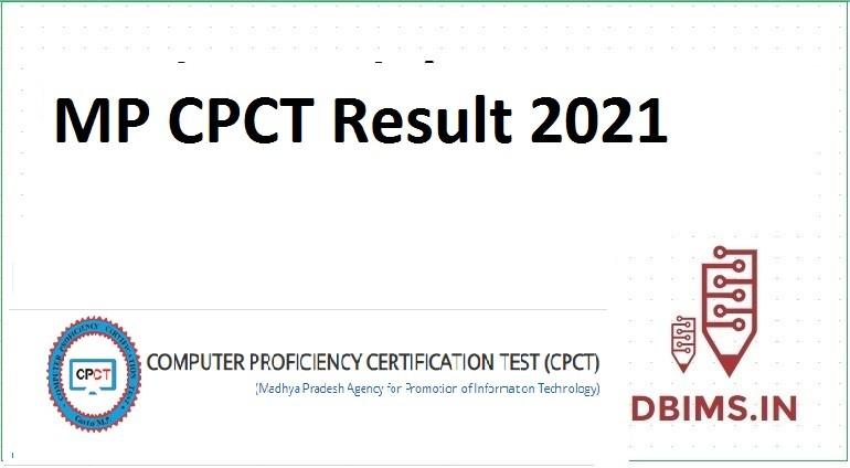 MP CPCT Result 2021