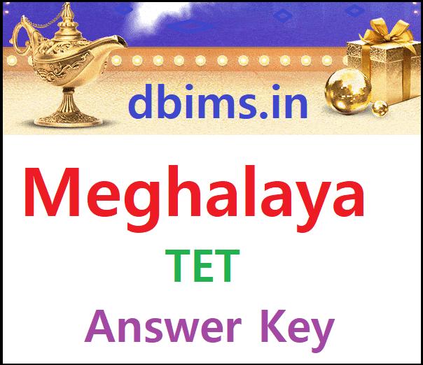 Meghalaya TET Answer Key