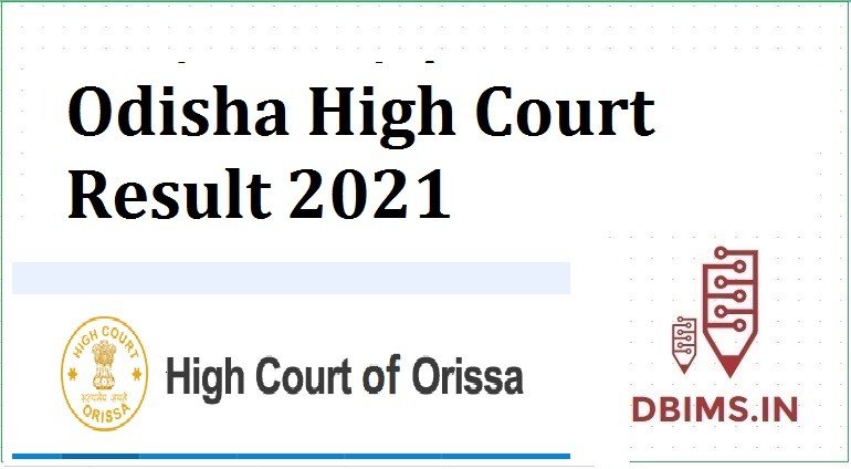 Odisha High Court Result 2021