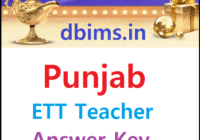 Punjab ETT Teacher Answer Key