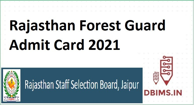 Rajasthan Forest Guard Admit Card 2021