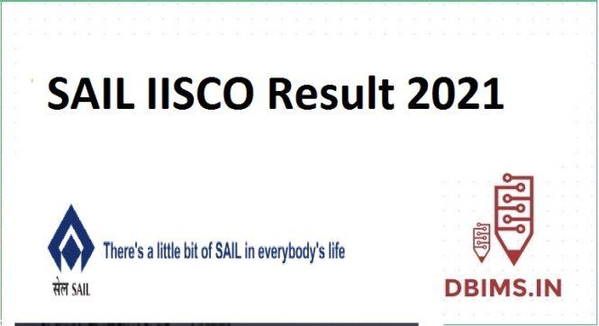 SAIL IISCO Result 2021