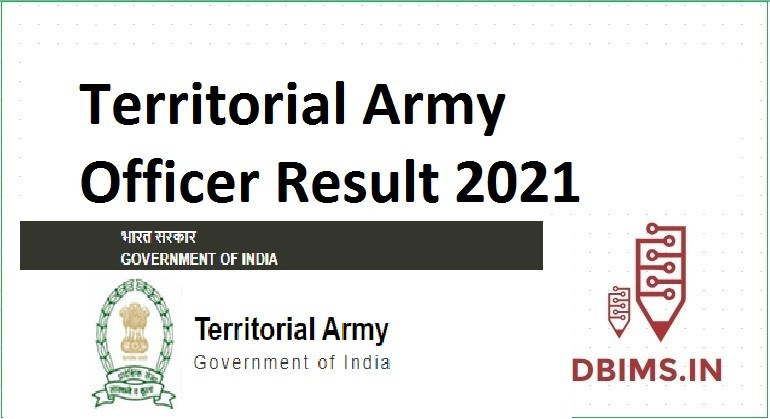 Territorial Army Officer Result 2021