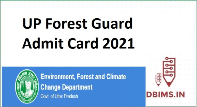 UP Forest Guard Admit Card 2021